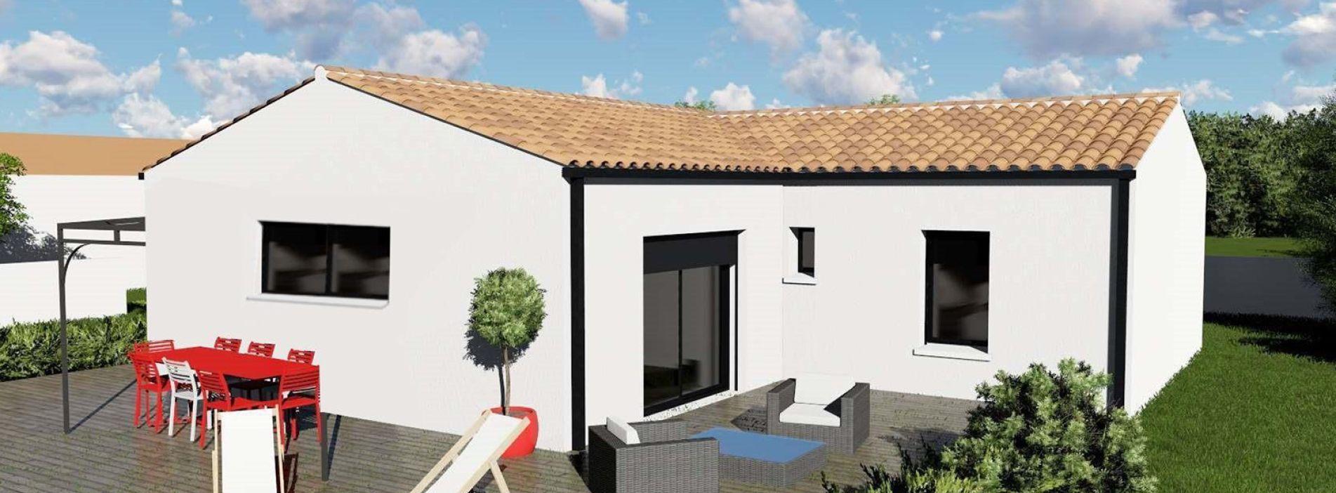 Image Maison 93.56 m² avec terrain à LA LANDE-DE-FRONSAC