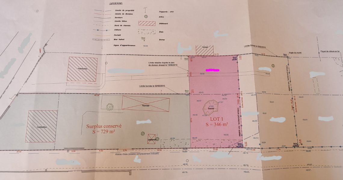 image Terrain à bâtir de 350 m² à MALESHERBES (45)