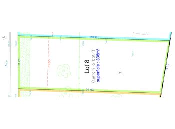Photo du terrain à bâtir de 338m²<br> à LUCE (28)