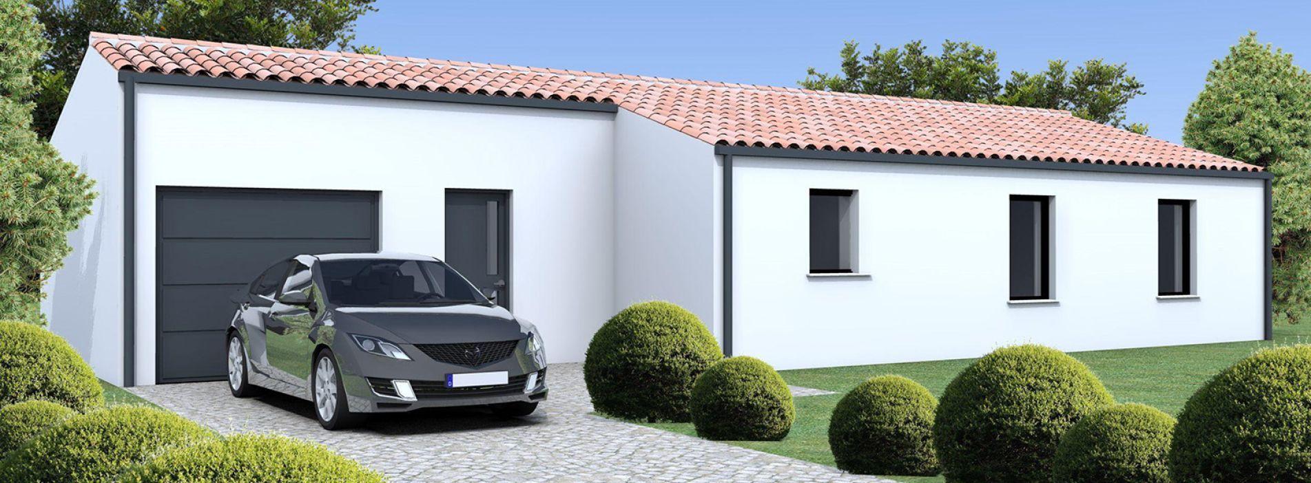 Image Maison 79.98 m² avec terrain à PRIGNAC-ET-MARCAMPS (GIRONDE - 33)
