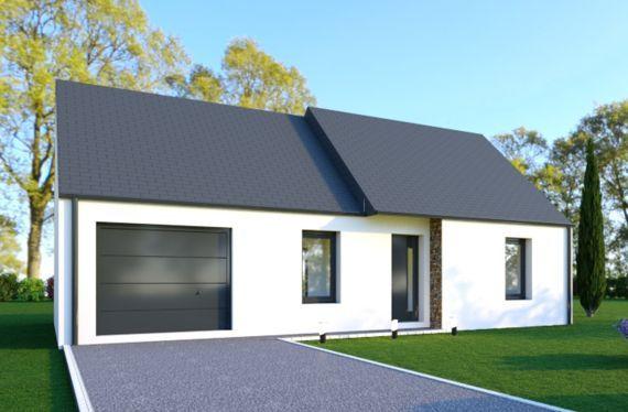 Photo maison 70m²<br>sur terrain 300m²