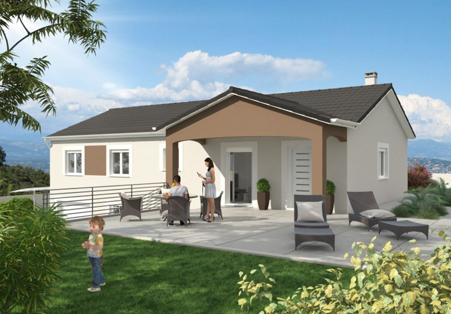 Maison 98.6 m² avec terrain à SAINTE-ANNE-SUR-GERVONDE (38) 1
