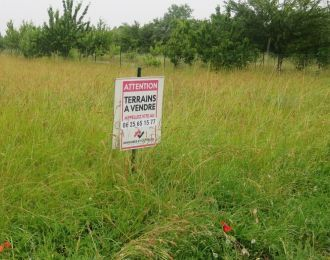 Photo du terrain à bâtir de 1235 m² <br><span>AUSSAC-VADALLE(16)