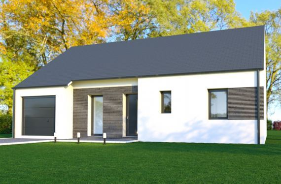Photo maison 80m²<br>sur terrain 300m²