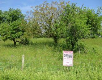 Photo du terrain à bâtir de 1000 m² <br><span>BERNAC(16)