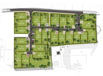 Photo du terrain à bâtir de 430m²<br> à ECROSNES (28)