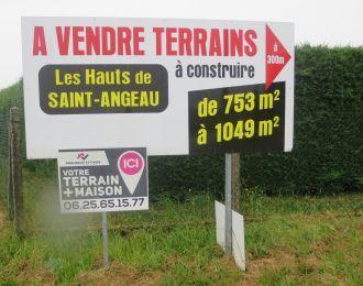 Photo du terrain à bâtir de 753 m² <br><span>SAINT-ANGEAU(16)