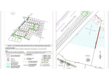 Photo du terrain à bâtir de 685m²<br> à CHARTRES (28)