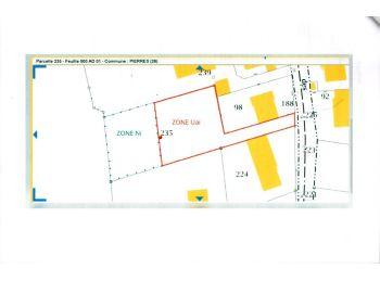 Photo du terrain à bâtir de 1334m²<br> à PIERRES (28)