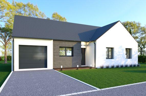 Photo maison 95m²<br>sur terrain 357m²