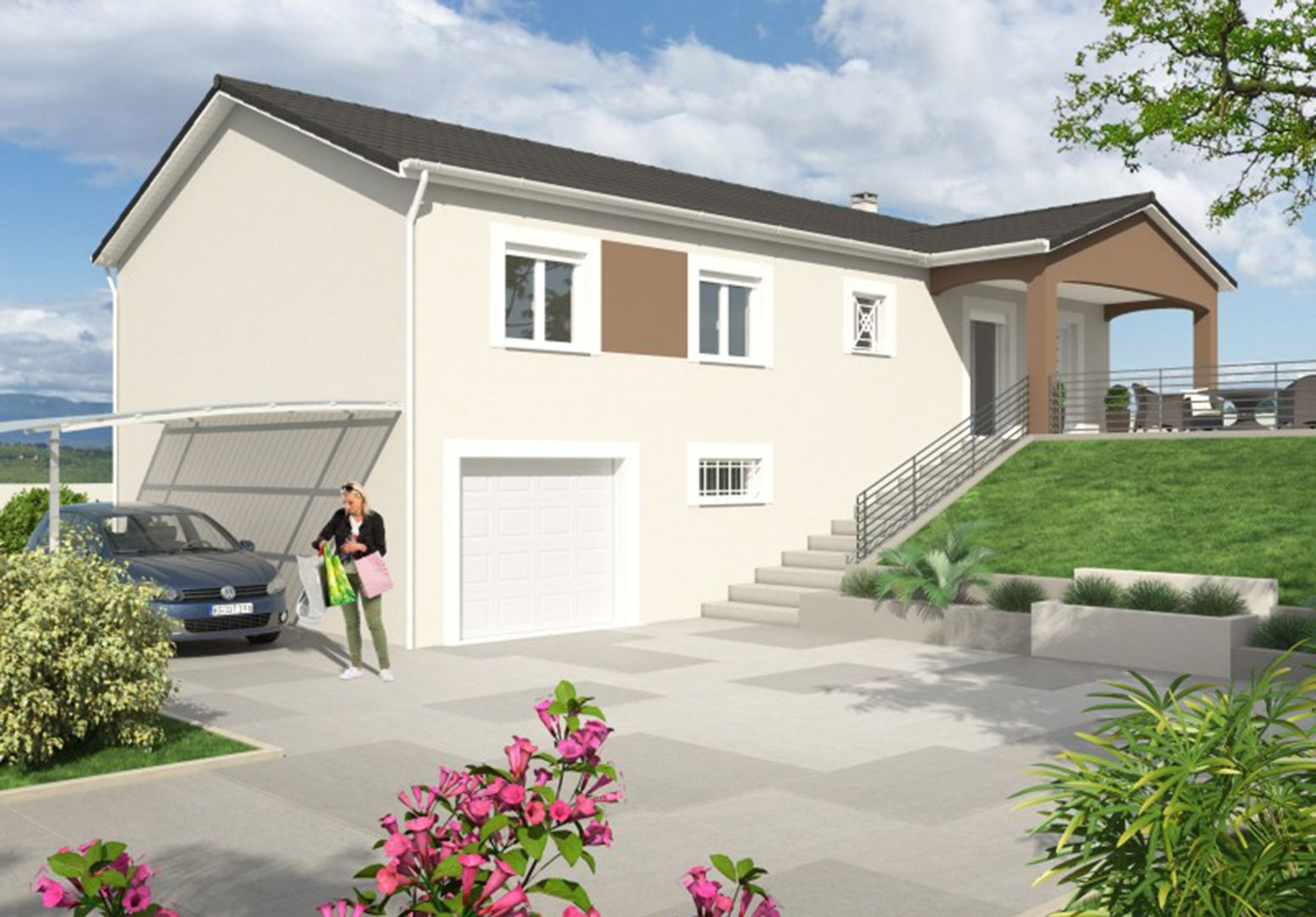 Maison 88.8 m² avec terrain à SAINTE-ANNE-SUR-GERVONDE (38) 1