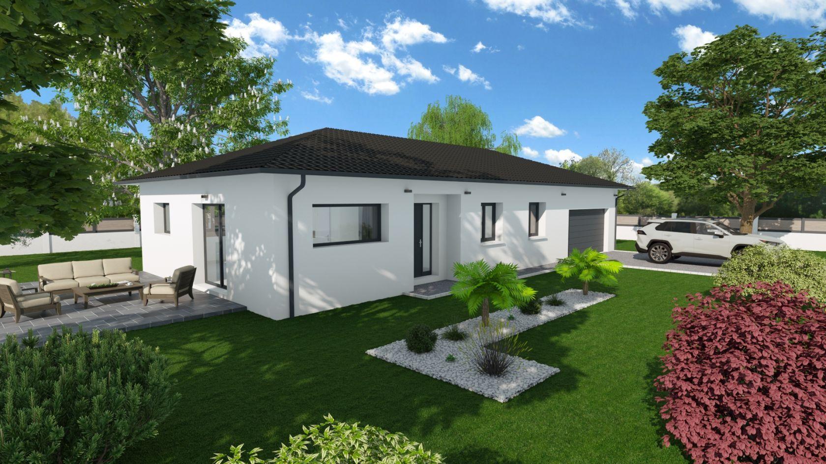 Maison 85.5 m² avec terrain à SAINTE-ANNE-SUR-GERVONDE (38) 1
