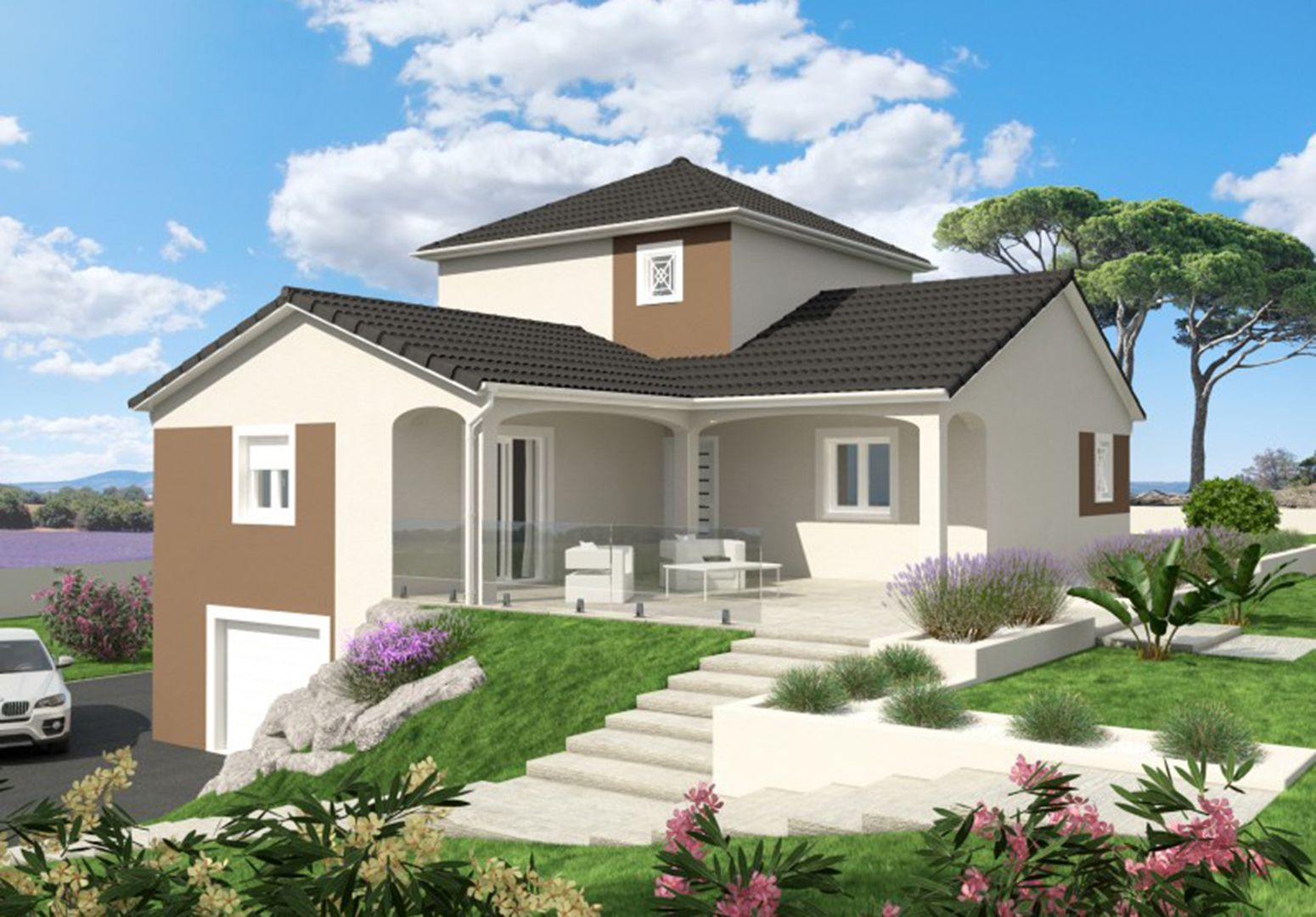 Maison 99.68 m² avec terrain à SAINTE-ANNE-SUR-GERVONDE (38) 1