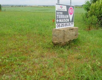 Photo du terrain à bâtir de 815 m² <br><span>COURCOME(16)