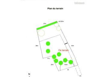 Photo du terrain à bâtir de 1200m²<br> à VERIGNY (28)