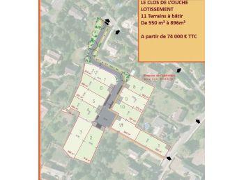 Photo du terrain à bâtir de 550m²<br> à MIGNIERES (28)