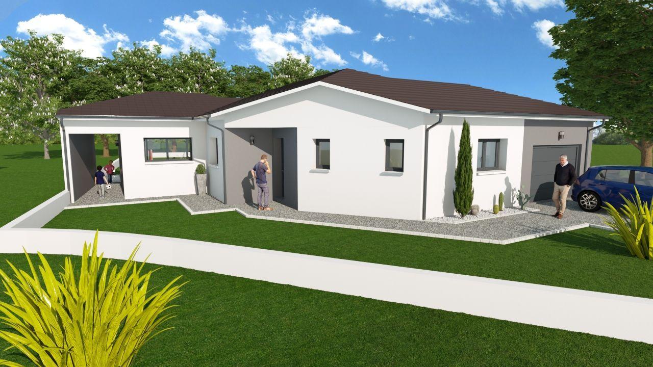 VILLA ATYPIQUE 105 m², suite parentale + terrain de 696 m² à CHAVANOZ (38) 1