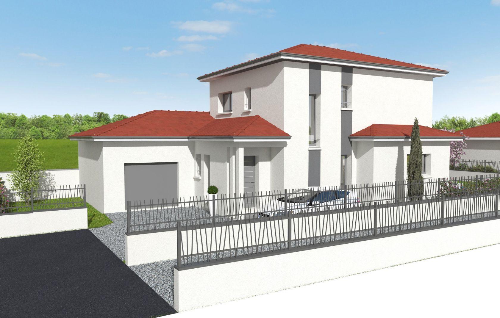 Villa 125 m² 4 Chbs dont 1 suite au RDC à CHASSIEU (69) 1