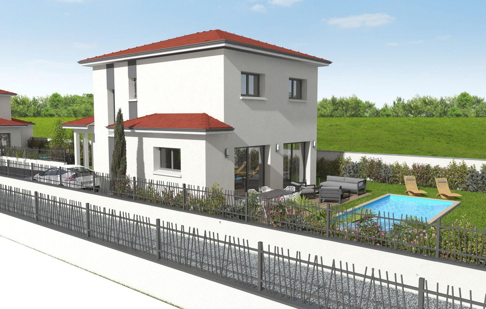 Villa 125 m² 4 Chbs dont 1 suite au RDC à CHASSIEU (69) 2