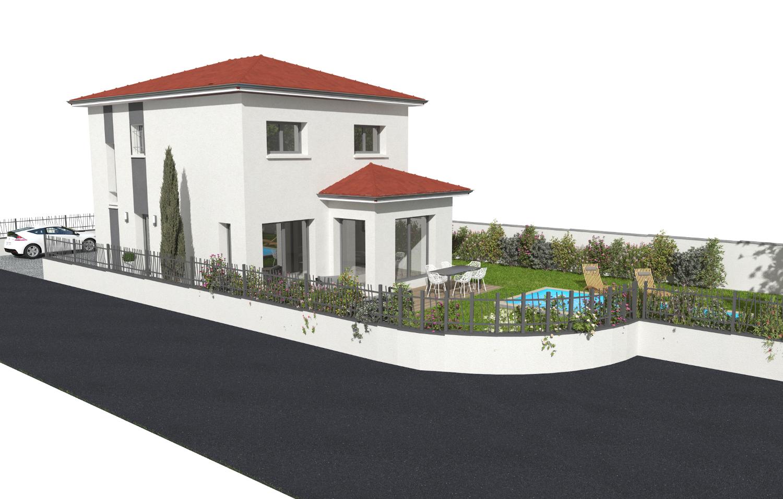 Maison 124.66 m² avec terrain à CHASSIEU (69) 2