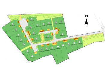 Photo du terrain à bâtir de 800m²<br> à AUNAY-SOUS-CRECY (28)