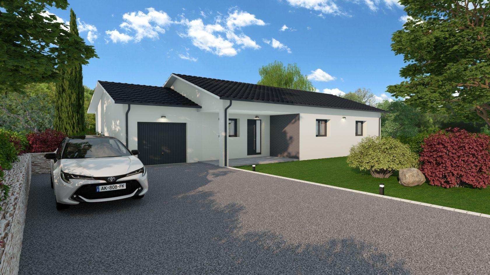 Maison 89.4 m² avec terrain à SAINTE-ANNE-SUR-GERVONDE (38) 1