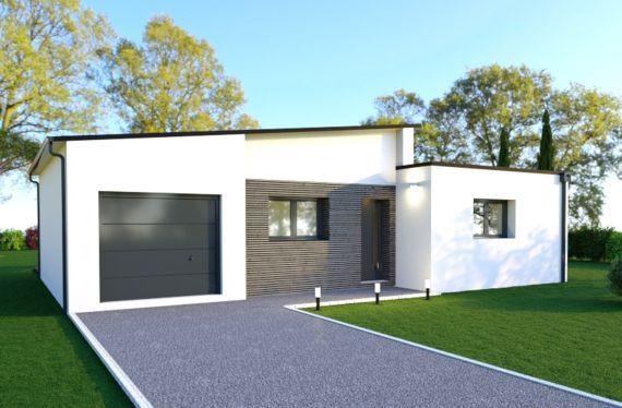 Photo maison 85m²<br>sur terrain 296m²