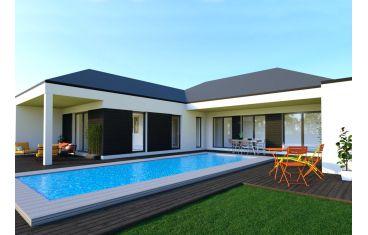 Photo maison 130m²<br>sur terrain 290m²